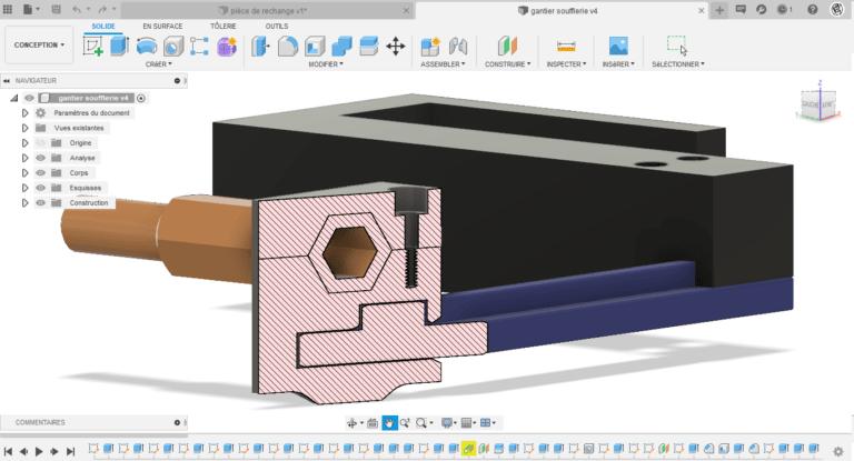 Conception industrielle CAO Fusion 360
